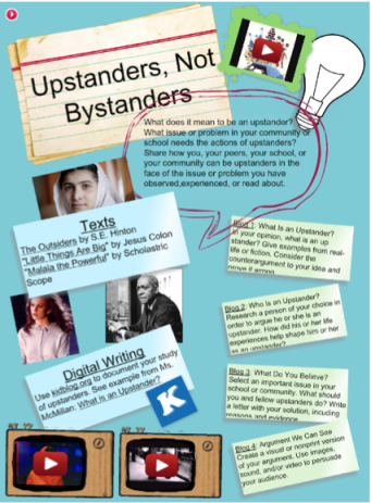 This is a screencast of the Upstanders, Not Bystanders Glog. Press the link for the complete glog with multimedia features.