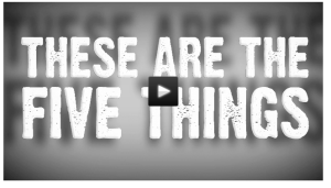 "Click the image to find Flocabulary's rap song: ""These Are the Five Things"""