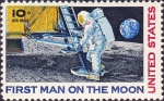 Image Credit: First Man on the moon 1969 via en.wikipedia.org