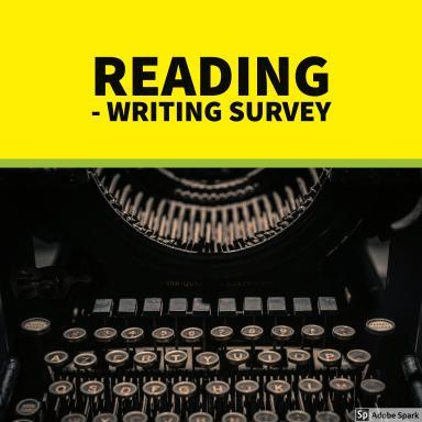 Typewriter with Reading Writing Survey