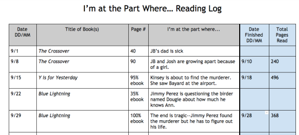 EXAMPLE #BookLove Reading Log 8.35.40 AM