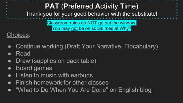 PAT Time Choices