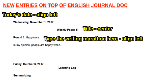 Example of English Journal