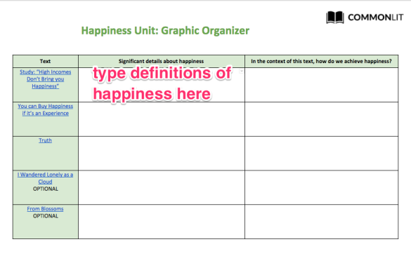 happiness organizer