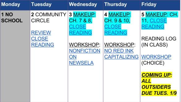 Agenda Jan. 2