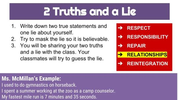 two truths – ms. mcmillan english 7