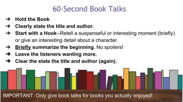 60-Second Book Talk