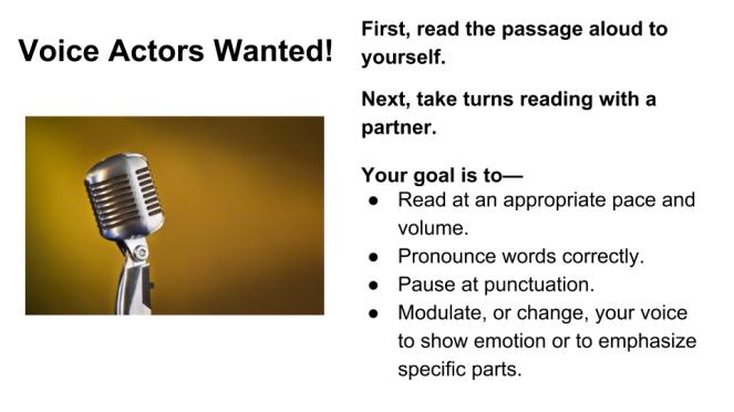 Voice Actors Wanted