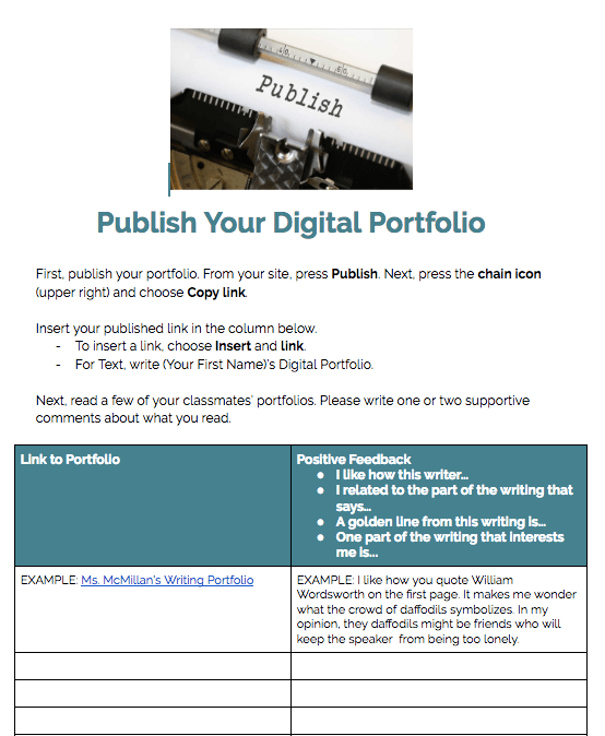 Publish Your Digital Portfolio